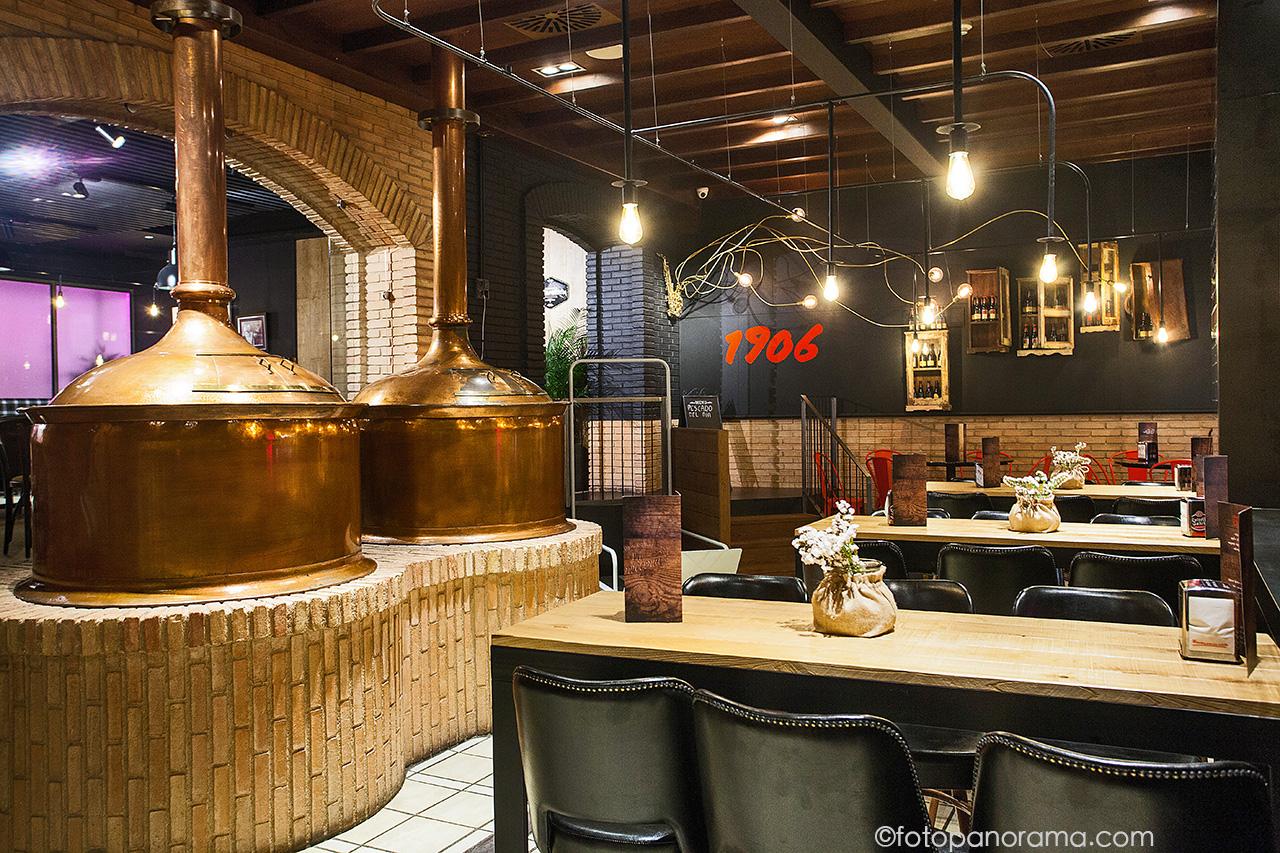 Cervecer a estrella galicia vigo fotopanorama estudio for Decoracion de cervecerias